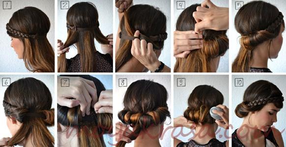 Причёски в греческом стиле на средние волосы с повязкой
