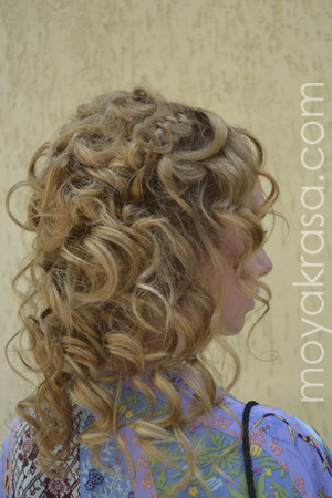 Фото 3 прически с завитыми волосами