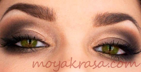 каки тени подходят для зеленых глаз