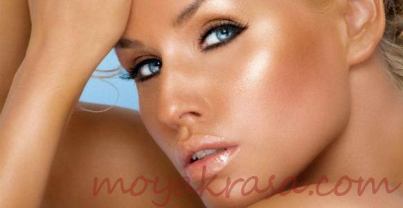 косметика и макияж с эффектом загара