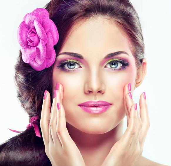 макияж к розовому платью