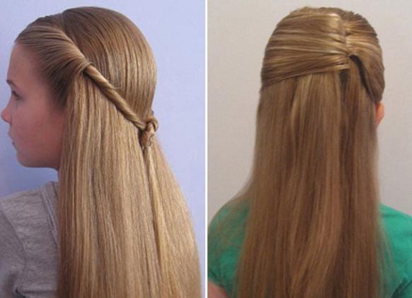 Простые прически распущенными волосами