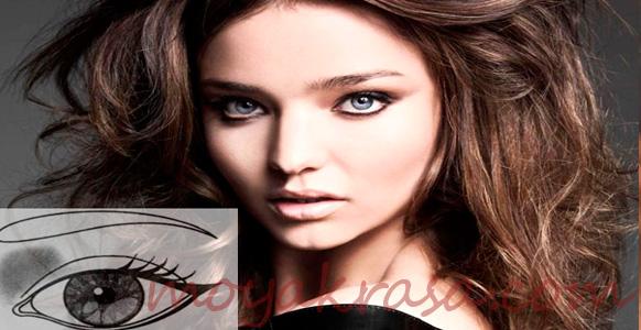 макияж для широко поставленных глаз