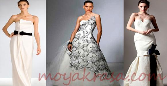 черное свадебное платье