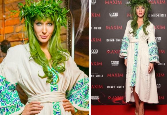 девука с зелеными волосами