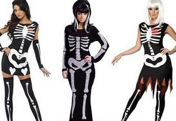 костюм скелета на хэллоуин