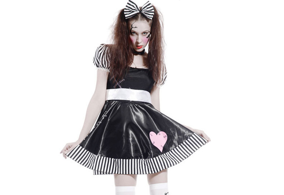 костюм сломаная кукла на хэллоуин