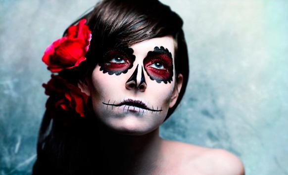 оригинальный макияж на хеллоуин