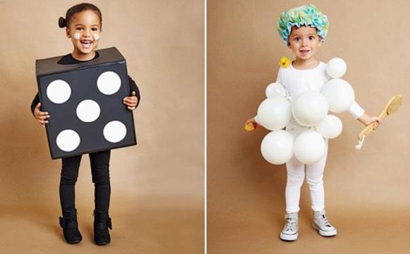 девочки в костюмах на Хэллоуин