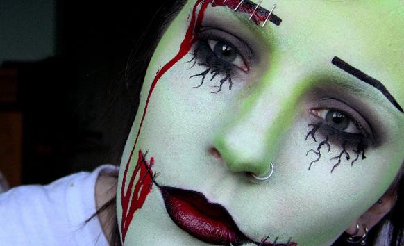 макияж зомби на хеллоуин