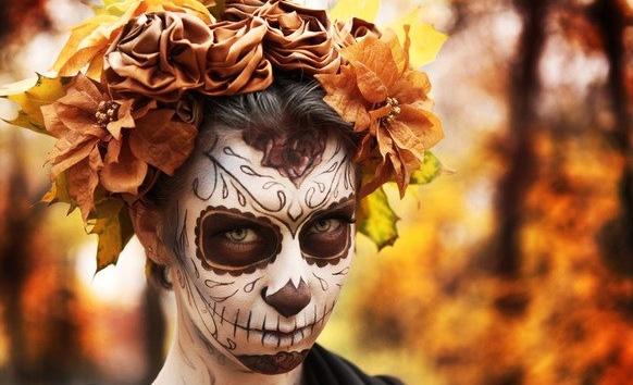 макияж на праздник хеллоуина