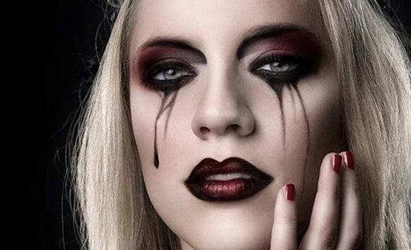 идея макияжа на хэллоуин