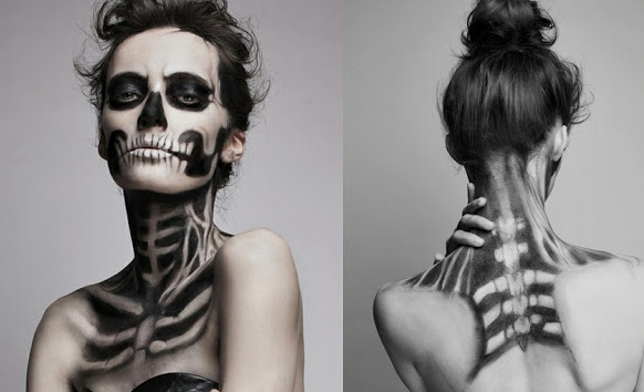 макияж на ночь хэллоуина