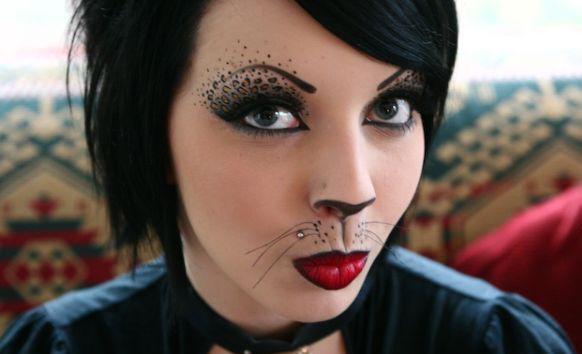 образ кошки на хэллоуин