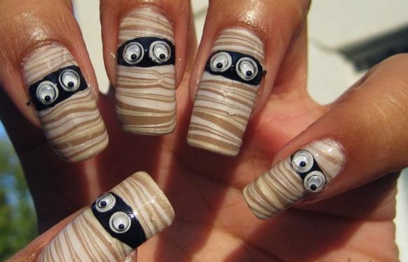 маникюр на нарощенных ногтях
