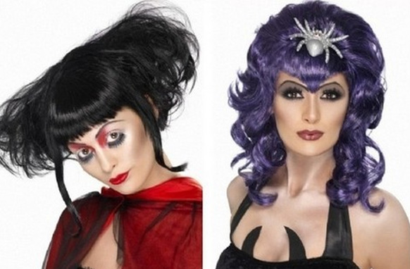 девушки с прическами на хэллоуин