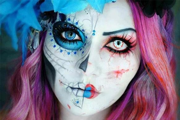 прическа мертвой невсты на хэллоуин