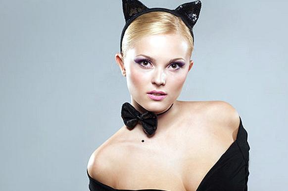 прическа кошки на хэллоуин