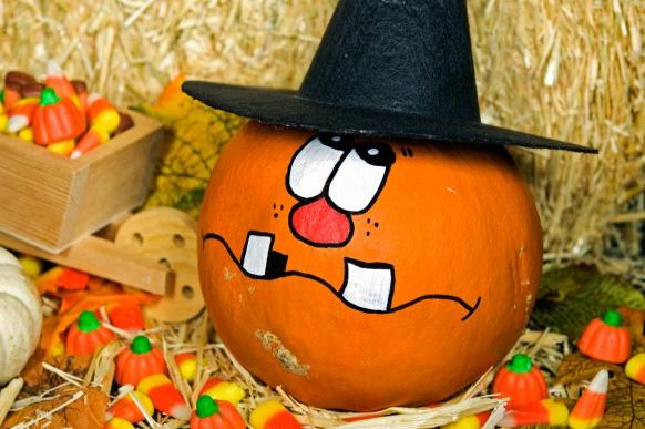 веселая тыква на Хэллоуин