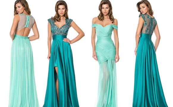 бирюзовые платья