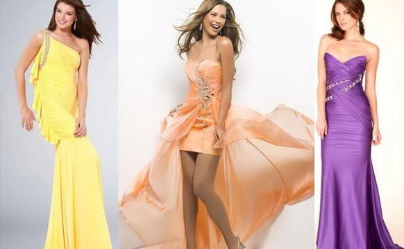 девушки в длинных платьях