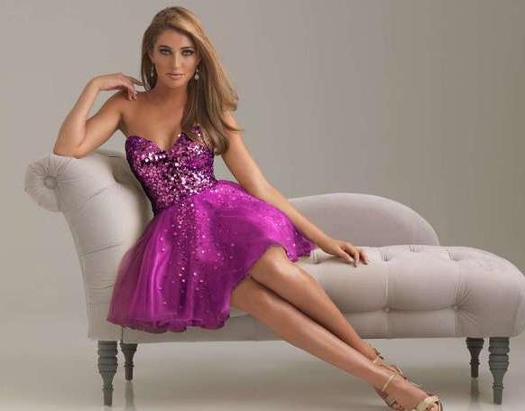 филетовое платье