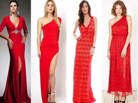 девушки в красных платьях