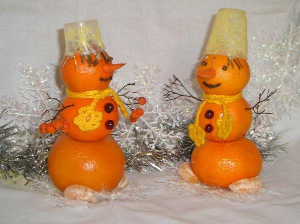 украшение на новый год из мандарин
