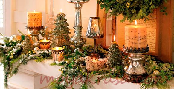 декоративные свечи на новый год