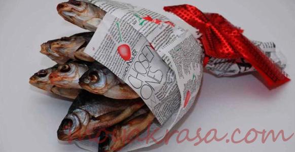 букет из вяленой рыбы