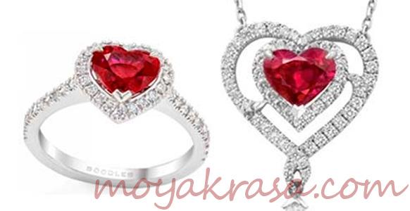 ювелирное украшение в форме сердца