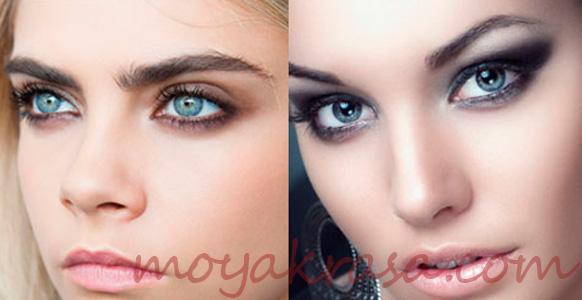 девушки и вечерний макияж