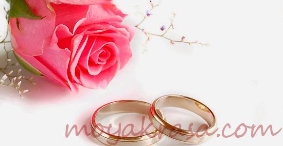 роза и обручальные кольца