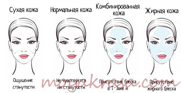 определение типа кожи лица