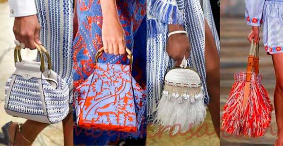 модные пестрые сумки