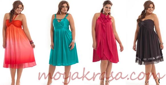 летние платья больших размеров
