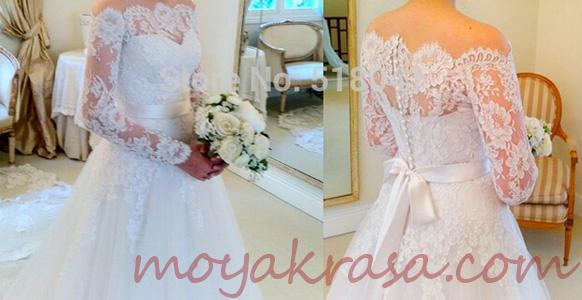 кружево на свадебном платье