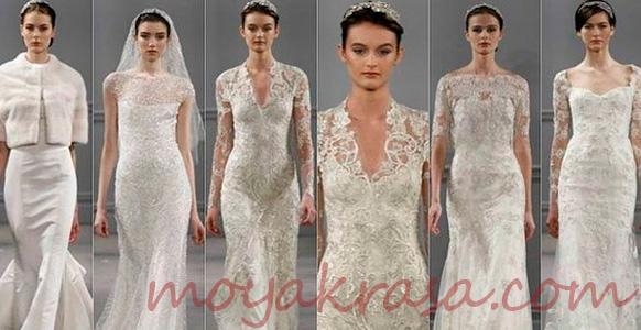 модели в свадебных платьях