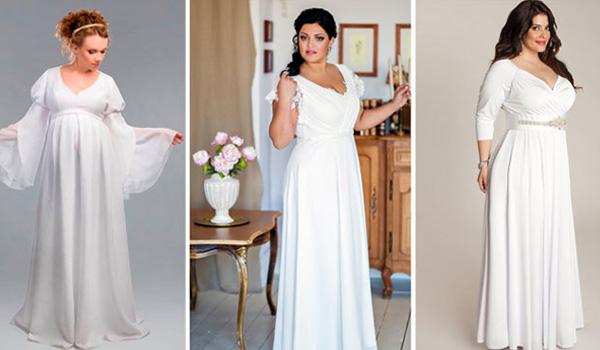 ровное свадебное платье