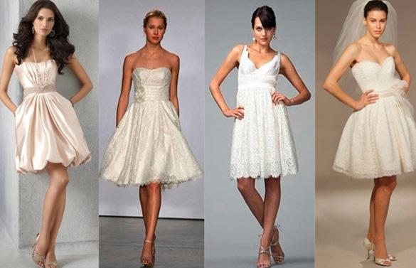 короткие платья для невест