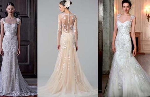 свадебные платья с элементами кружева