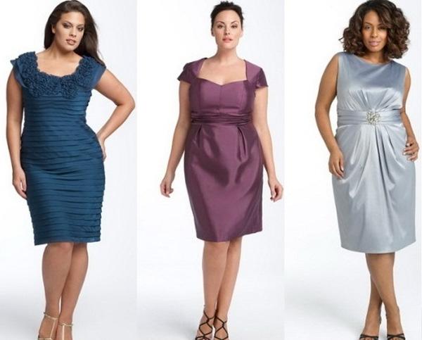 короткие платья для полных девушек