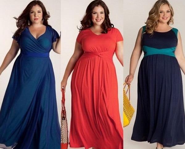 платья для полных девушек на выпускной