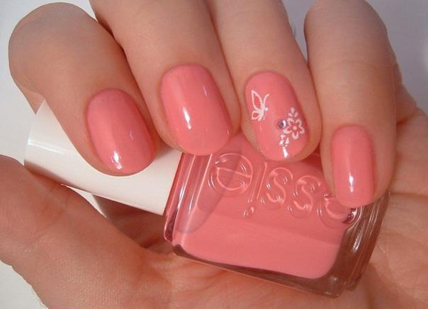 розовый маникюр гель-лаком