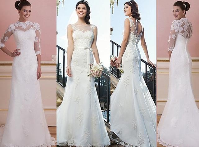 осенний свадебный наряд