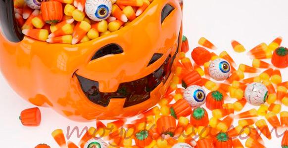 оформление стола для детей на Хэллоуин