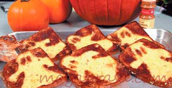 тосты с привидениями для детей на Хэллоуин