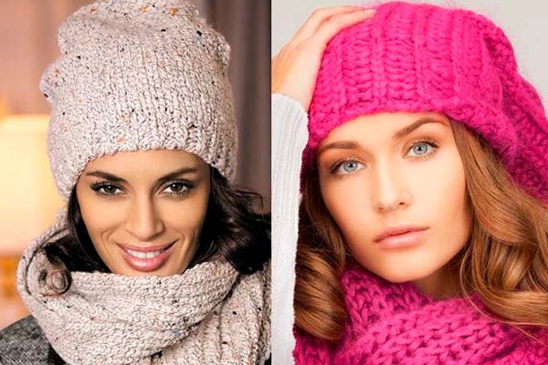 вязанные шапки для девушек