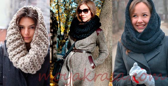 девушки в шарфах