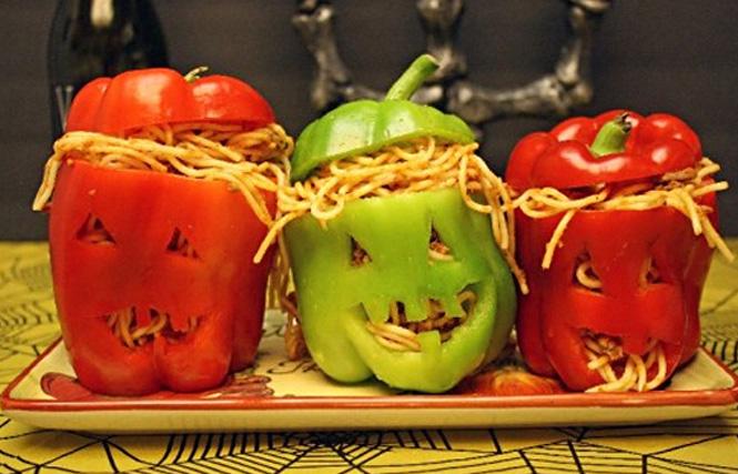 фаршированный перец на Хэллоуин